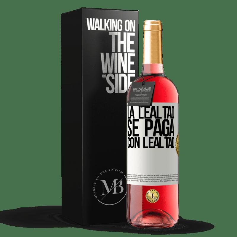 24,95 € Envoi gratuit | Vin rosé Édition ROSÉ La fidélité est payée avec fidélité Étiquette Blanche. Étiquette personnalisable Vin jeune Récolte 2020 Tempranillo