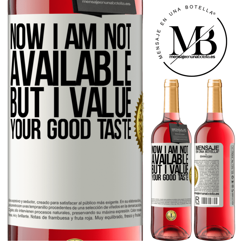 24,95 € Free Shipping | Rosé Wine ROSÉ Edition Now I am not available, but I value your good taste White Label. Customizable label Young wine Harvest 2020 Tempranillo