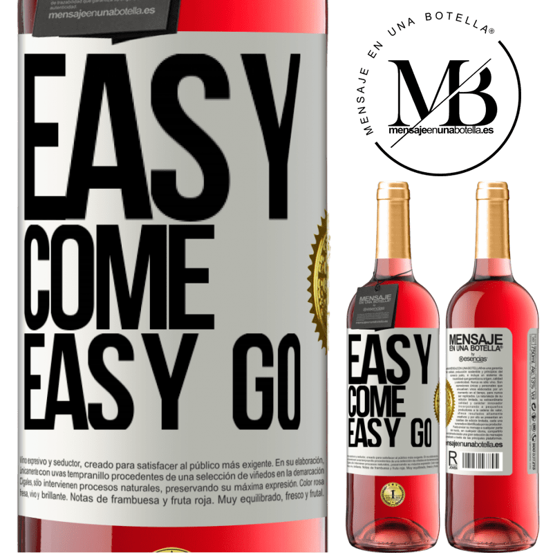 24,95 € Free Shipping   Rosé Wine ROSÉ Edition Easy come, easy go White Label. Customizable label Young wine Harvest 2020 Tempranillo