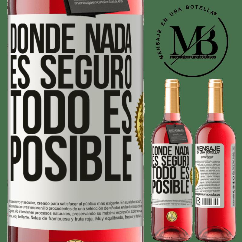 24,95 € Envoi gratuit | Vin rosé Édition ROSÉ Là où rien n'est sûr, tout est possible Étiquette Blanche. Étiquette personnalisable Vin jeune Récolte 2020 Tempranillo