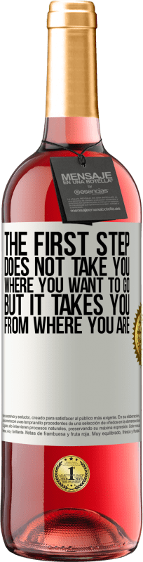 24,95 € Free Shipping   Rosé Wine ROSÉ Edition The first step does not take you where you want to go, but it takes you from where you are White Label. Customizable label Young wine Harvest 2020 Tempranillo