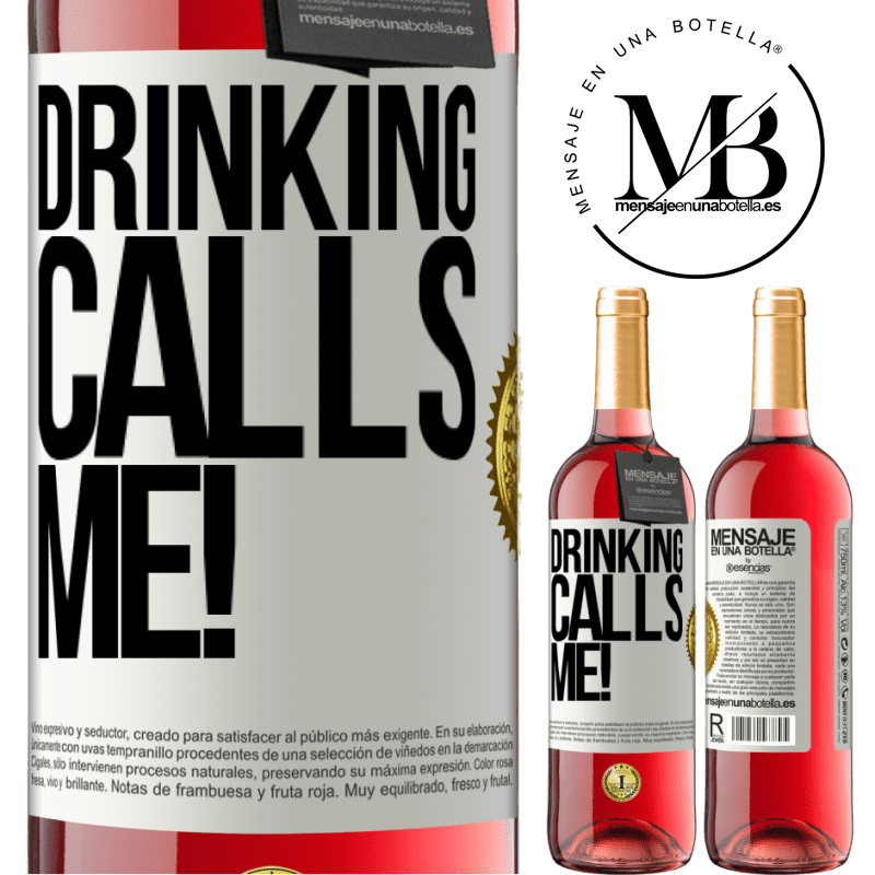 24,95 € Free Shipping | Rosé Wine ROSÉ Edition drinking calls me! White Label. Customizable label Young wine Harvest 2020 Tempranillo