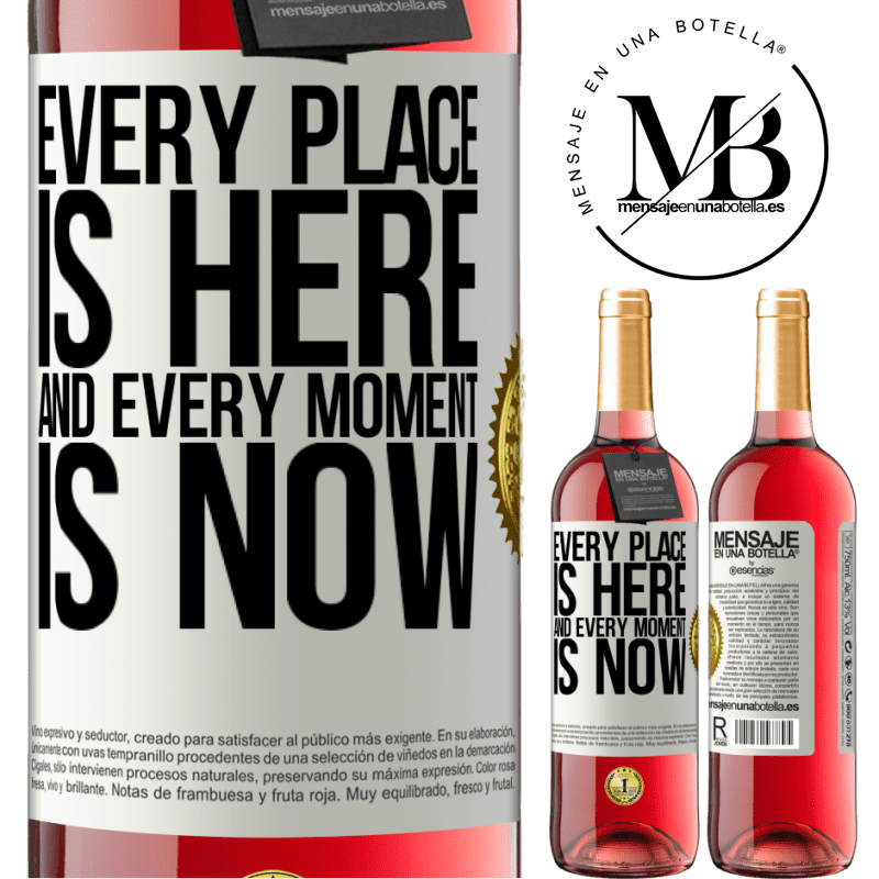 24,95 € Free Shipping | Rosé Wine ROSÉ Edition Every place is here and every moment is now White Label. Customizable label Young wine Harvest 2020 Tempranillo