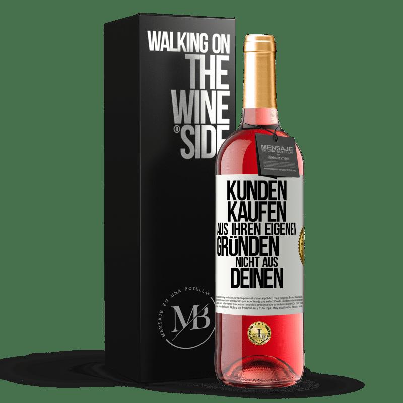 24,95 € Kostenloser Versand | Roséwein ROSÉ Ausgabe Kunden kaufen aus bestimmten Gründen, nicht aus Ihren Gründen Weißes Etikett. Anpassbares Etikett Junger Wein Ernte 2020 Tempranillo