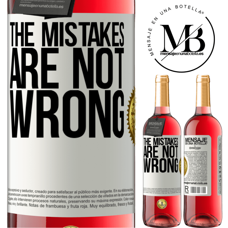 24,95 € Free Shipping   Rosé Wine ROSÉ Edition The mistakes are not wrong White Label. Customizable label Young wine Harvest 2020 Tempranillo