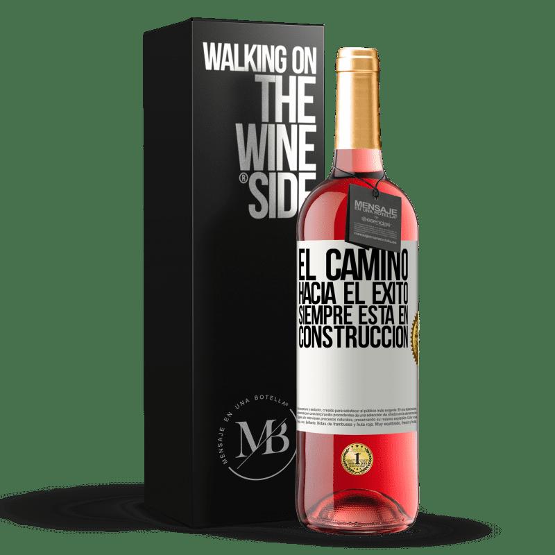 24,95 € Envoi gratuit   Vin rosé Édition ROSÉ La route du succès est toujours en construction Étiquette Blanche. Étiquette personnalisable Vin jeune Récolte 2020 Tempranillo
