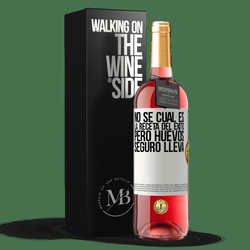 24,95 € Envoi gratuit   Vin rosé Édition ROSÉ Je ne sais pas quelle est la recette du succès. Mais les œufs emportent Étiquette Blanche. Étiquette personnalisable Vin jeune Récolte 2020 Tempranillo