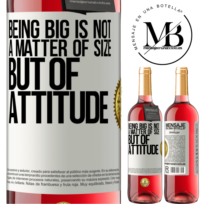 24,95 € Free Shipping | Rosé Wine ROSÉ Edition Being big is not a matter of size, but of attitude White Label. Customizable label Young wine Harvest 2020 Tempranillo