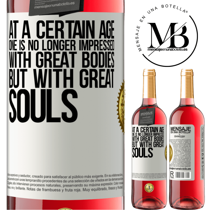 24,95 € Free Shipping   Rosé Wine ROSÉ Edition At a certain age one is no longer impressed with great bodies, but with great souls White Label. Customizable label Young wine Harvest 2020 Tempranillo