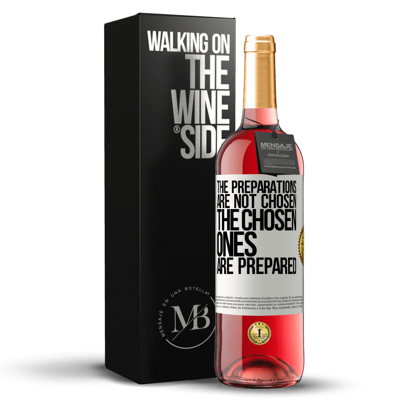 24,95 € Free Shipping | Rosé Wine ROSÉ Edition The preparations are not chosen, the chosen ones are prepared White Label. Customizable label Young wine Harvest 2020 Tempranillo