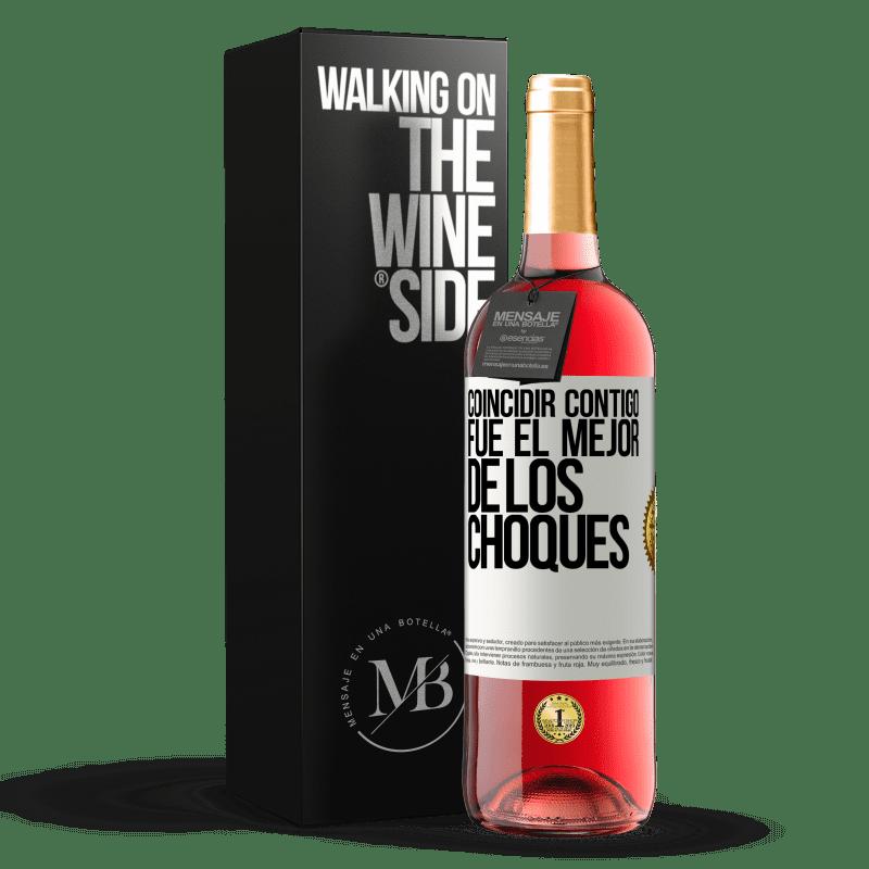 24,95 € Envoi gratuit   Vin rosé Édition ROSÉ Vous correspondre était le meilleur des accidents Étiquette Blanche. Étiquette personnalisable Vin jeune Récolte 2020 Tempranillo