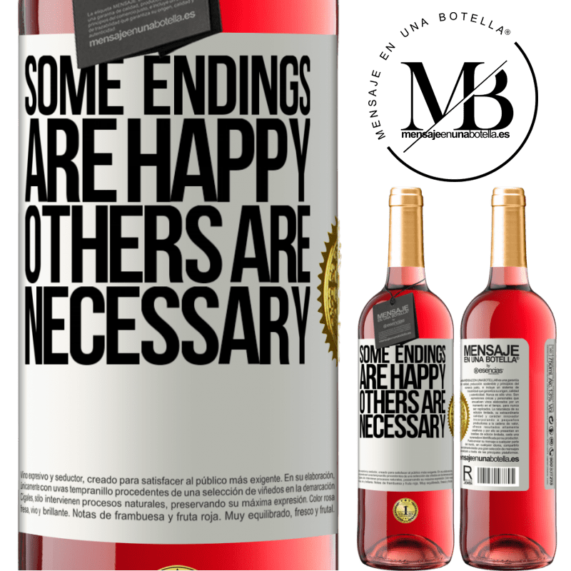 24,95 € Free Shipping | Rosé Wine ROSÉ Edition Some endings are happy. Others are necessary White Label. Customizable label Young wine Harvest 2020 Tempranillo