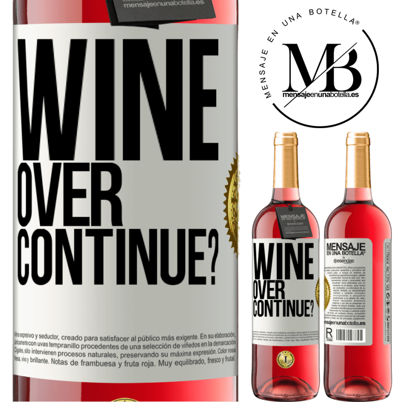 24,95 € Free Shipping   Rosé Wine ROSÉ Edition Wine over. Continue? White Label. Customizable label Young wine Harvest 2020 Tempranillo