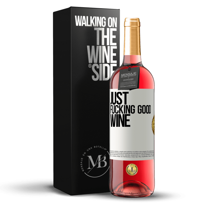 24,95 € Free Shipping | Rosé Wine ROSÉ Edition Just fucking good wine White Label. Customizable label Young wine Harvest 2020 Tempranillo