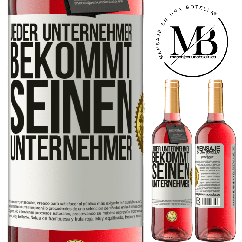 24,95 € Kostenloser Versand | Roséwein ROSÉ Ausgabe Jeder Unternehmer bekommt seinen Unternehmer Weißes Etikett. Anpassbares Etikett Junger Wein Ernte 2020 Tempranillo