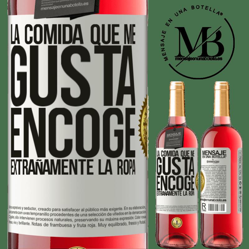 24,95 € Envoi gratuit   Vin rosé Édition ROSÉ La nourriture que j'aime rétrécit étrangement Étiquette Blanche. Étiquette personnalisable Vin jeune Récolte 2020 Tempranillo