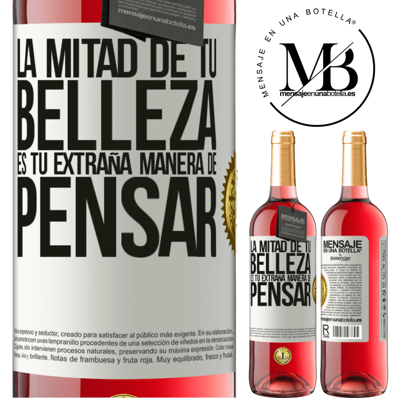 24,95 € Envoi gratuit   Vin rosé Édition ROSÉ La moitié de votre beauté est votre étrange façon de penser Étiquette Blanche. Étiquette personnalisable Vin jeune Récolte 2020 Tempranillo