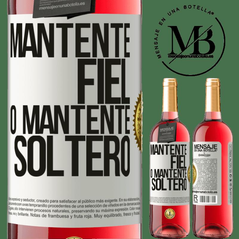 24,95 € Envoi gratuit   Vin rosé Édition ROSÉ Restez fidèle ou restez célibataire Étiquette Blanche. Étiquette personnalisable Vin jeune Récolte 2020 Tempranillo