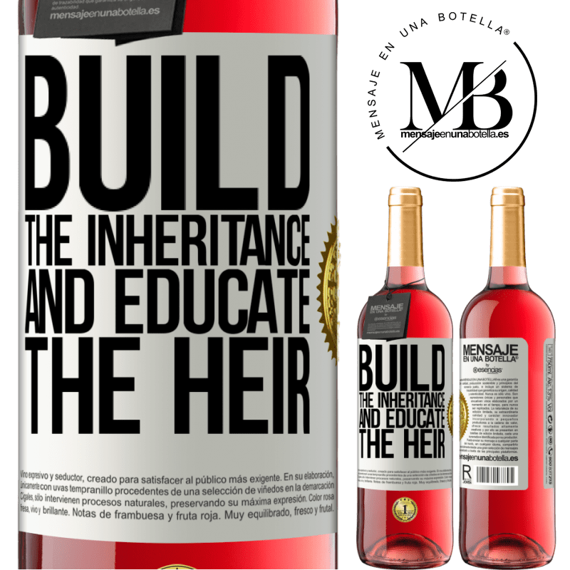 24,95 € Free Shipping   Rosé Wine ROSÉ Edition Build the inheritance and educate the heir White Label. Customizable label Young wine Harvest 2020 Tempranillo