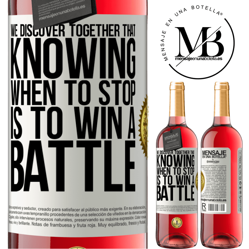 24,95 € Free Shipping | Rosé Wine ROSÉ Edition We discover together that knowing when to stop is to win a battle White Label. Customizable label Young wine Harvest 2020 Tempranillo