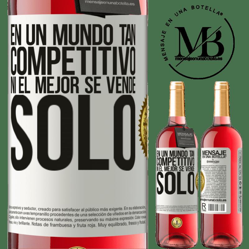 24,95 € Envoi gratuit | Vin rosé Édition ROSÉ Dans un monde aussi compétitif, même les meilleurs ne se vendent pas Étiquette Blanche. Étiquette personnalisable Vin jeune Récolte 2020 Tempranillo