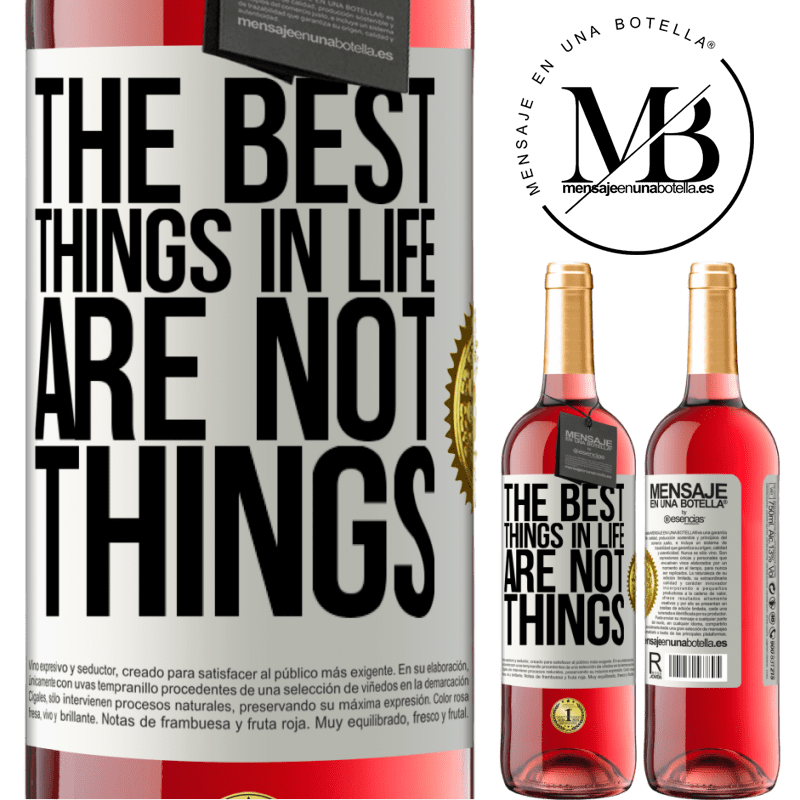 24,95 € Free Shipping | Rosé Wine ROSÉ Edition The best things in life are not things White Label. Customizable label Young wine Harvest 2020 Tempranillo