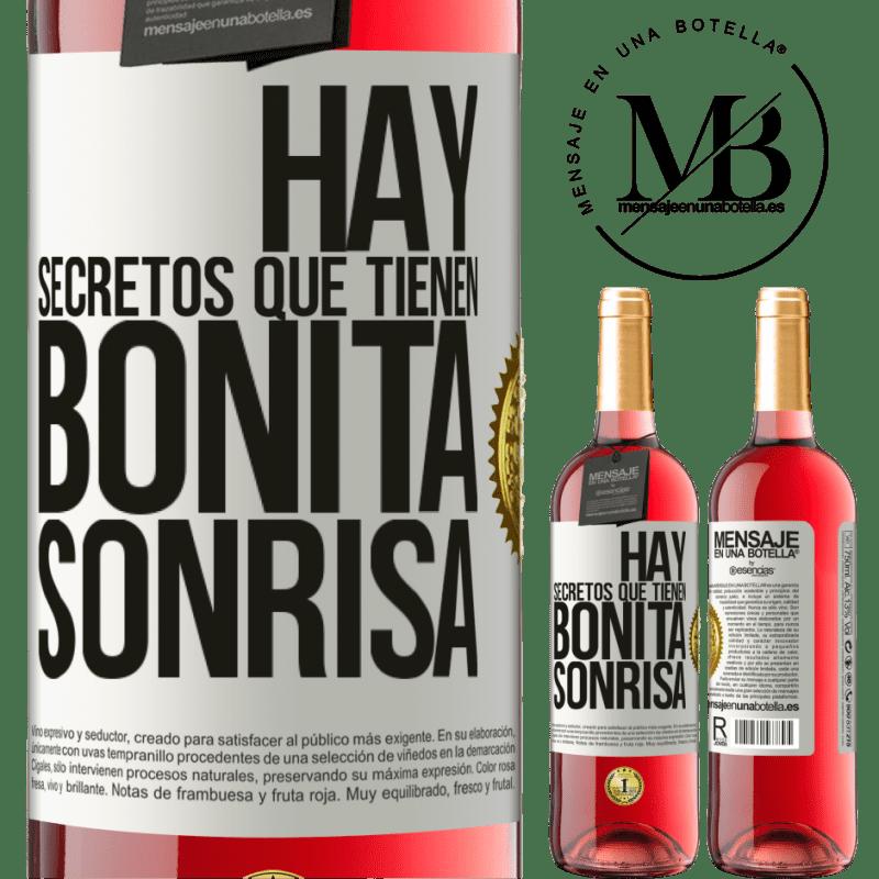 24,95 € Envoi gratuit   Vin rosé Édition ROSÉ Il y a des secrets qui ont un beau sourire Étiquette Blanche. Étiquette personnalisable Vin jeune Récolte 2020 Tempranillo