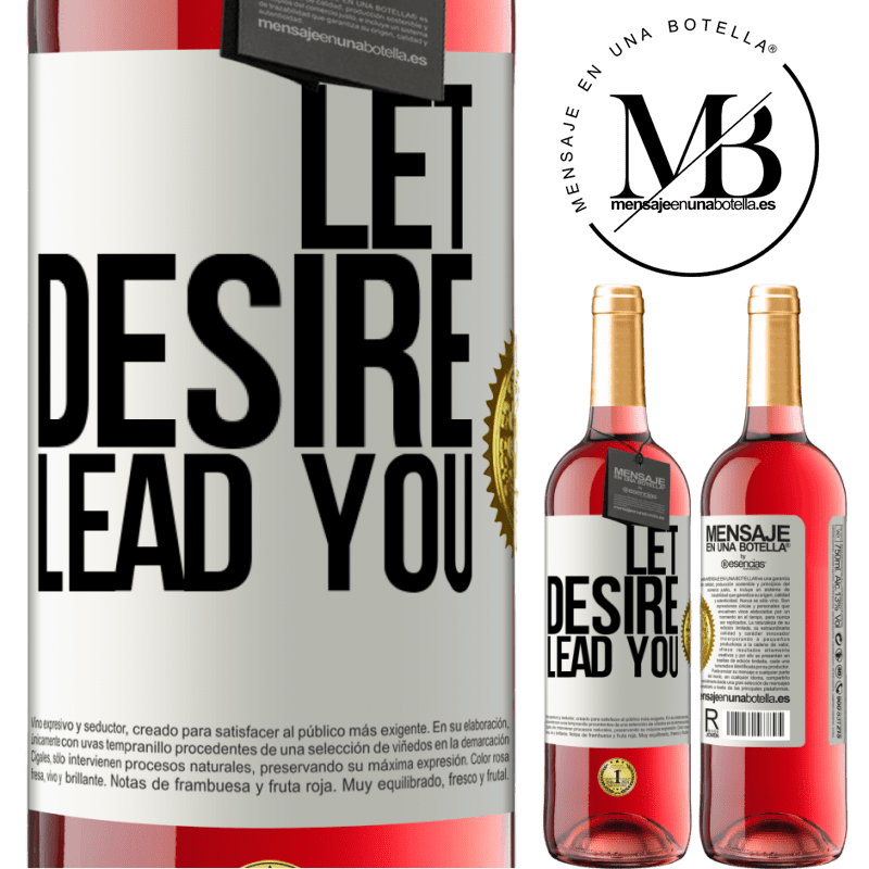 24,95 € Free Shipping | Rosé Wine ROSÉ Edition Let desire lead you White Label. Customizable label Young wine Harvest 2020 Tempranillo