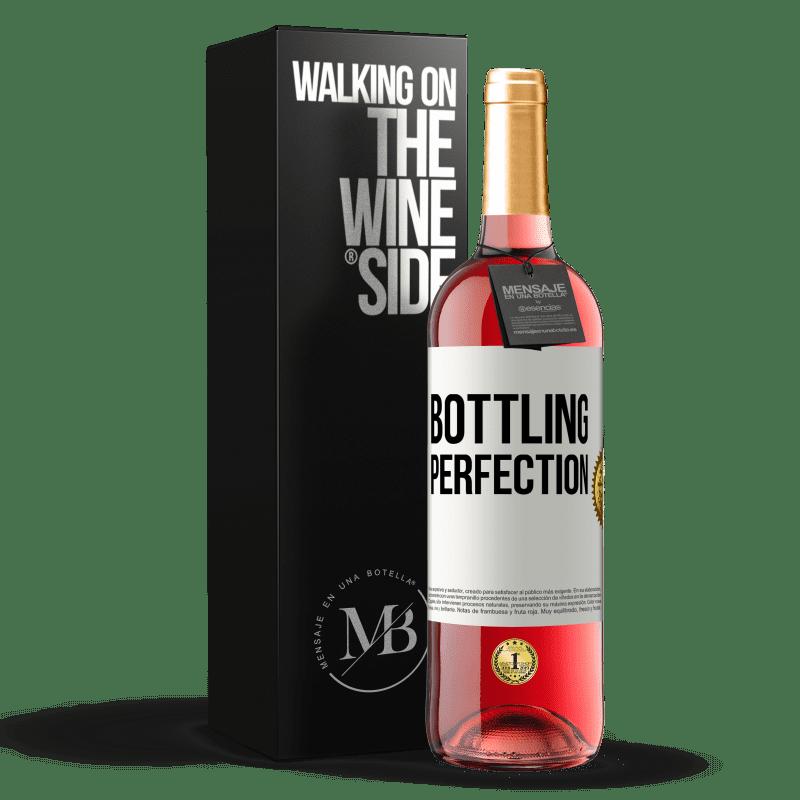 24,95 € Envío gratis | Vino Rosado Edición ROSÉ Bottling perfection Etiqueta Blanca. Etiqueta personalizable Vino joven Cosecha 2020 Tempranillo