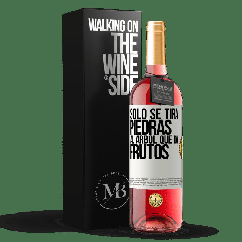 24,95 € Envoi gratuit   Vin rosé Édition ROSÉ Il suffit de jeter des pierres sur l'arbre qui porte des fruits Étiquette Blanche. Étiquette personnalisable Vin jeune Récolte 2020 Tempranillo