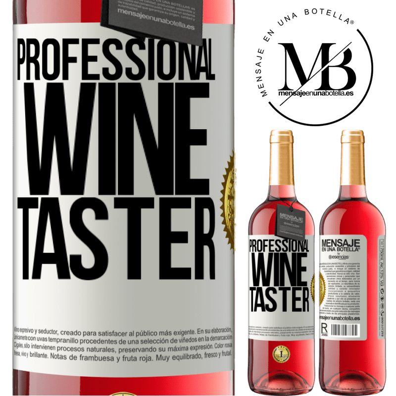 24,95 € Free Shipping   Rosé Wine ROSÉ Edition Professional wine taster White Label. Customizable label Young wine Harvest 2020 Tempranillo