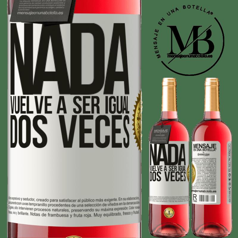 24,95 € Envoi gratuit   Vin rosé Édition ROSÉ Rien n'est plus pareil deux fois Étiquette Blanche. Étiquette personnalisable Vin jeune Récolte 2020 Tempranillo
