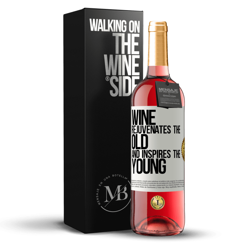24,95 € Free Shipping | Rosé Wine ROSÉ Edition Wine rejuvenates the old and inspires the young White Label. Customizable label Young wine Harvest 2020 Tempranillo