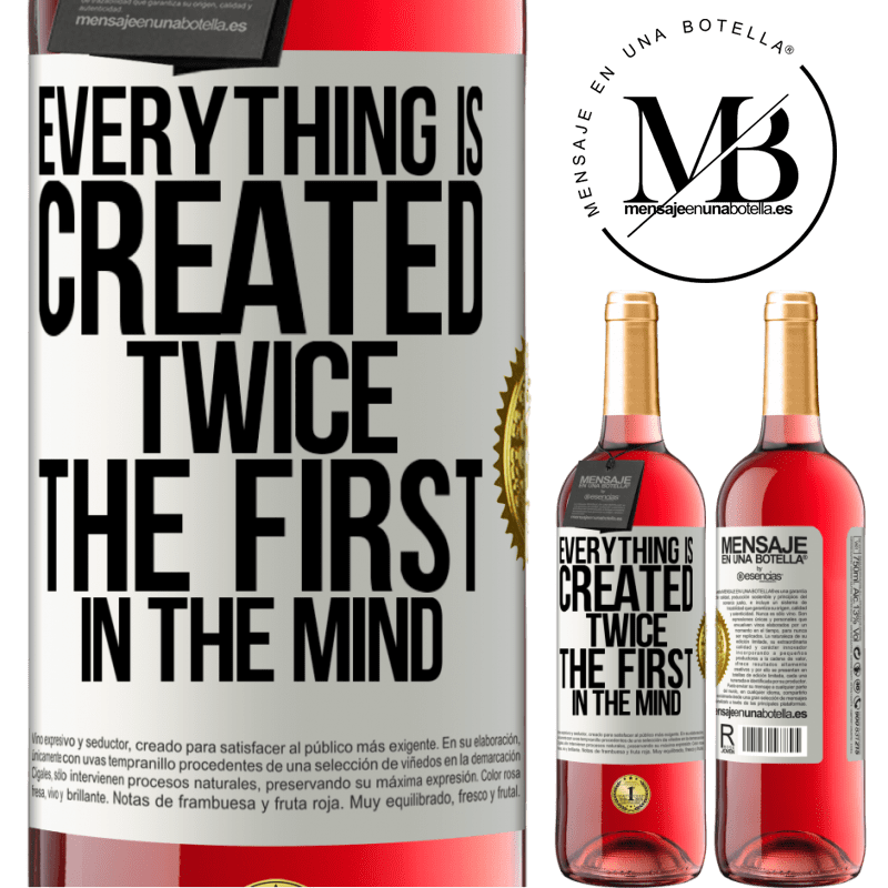 24,95 € Free Shipping | Rosé Wine ROSÉ Edition Everything is created twice. The first in the mind White Label. Customizable label Young wine Harvest 2020 Tempranillo