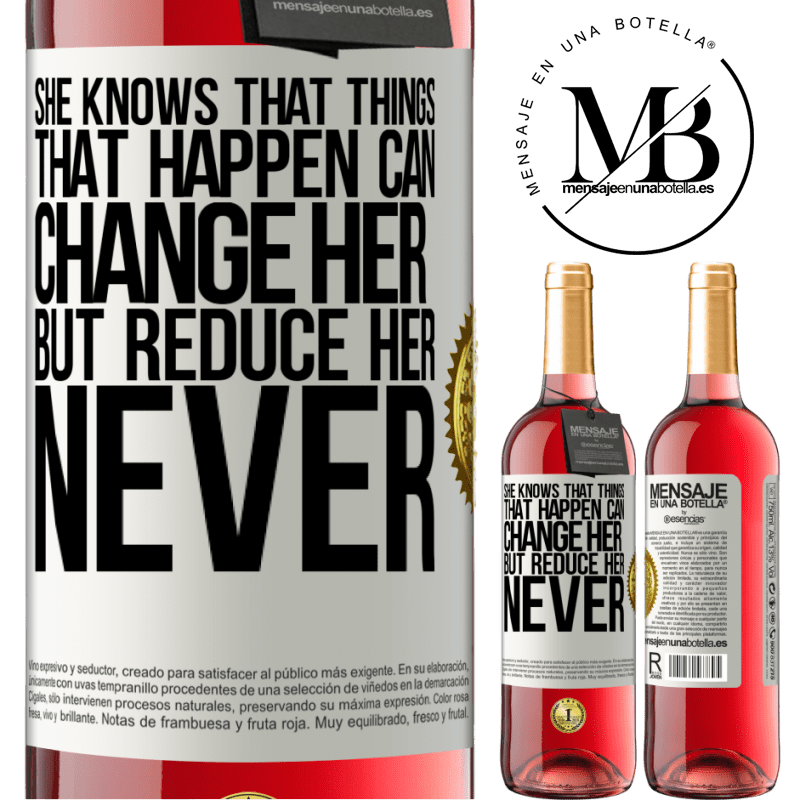 24,95 € Free Shipping   Rosé Wine ROSÉ Edition She knows that things that happen can change her, but reduce her, never White Label. Customizable label Young wine Harvest 2020 Tempranillo
