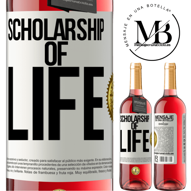 24,95 € Free Shipping | Rosé Wine ROSÉ Edition Scholarship of life White Label. Customizable label Young wine Harvest 2020 Tempranillo