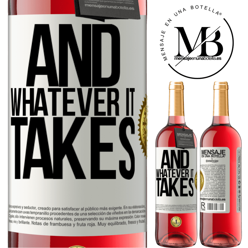 24,95 € Free Shipping | Rosé Wine ROSÉ Edition And whatever it takes White Label. Customizable label Young wine Harvest 2020 Tempranillo
