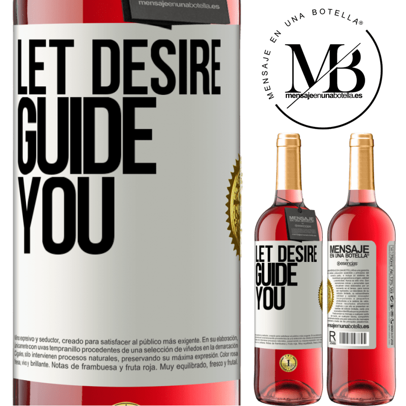 24,95 € Free Shipping   Rosé Wine ROSÉ Edition Let desire guide you White Label. Customizable label Young wine Harvest 2020 Tempranillo