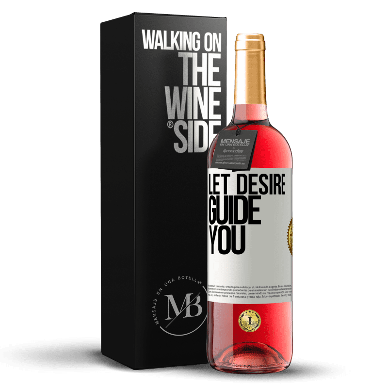 24,95 € Free Shipping | Rosé Wine ROSÉ Edition Let desire guide you White Label. Customizable label Young wine Harvest 2020 Tempranillo