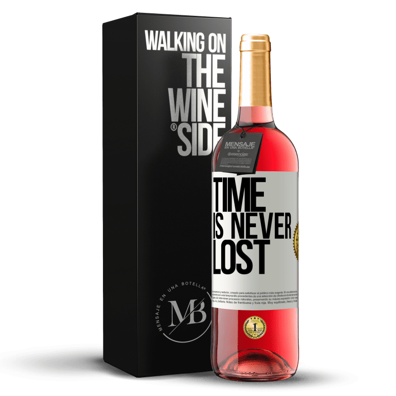 24,95 € Free Shipping | Rosé Wine ROSÉ Edition Time is never lost White Label. Customizable label Young wine Harvest 2020 Tempranillo