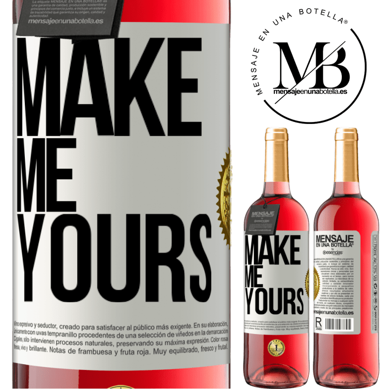 24,95 € Free Shipping   Rosé Wine ROSÉ Edition Make me yours White Label. Customizable label Young wine Harvest 2020 Tempranillo