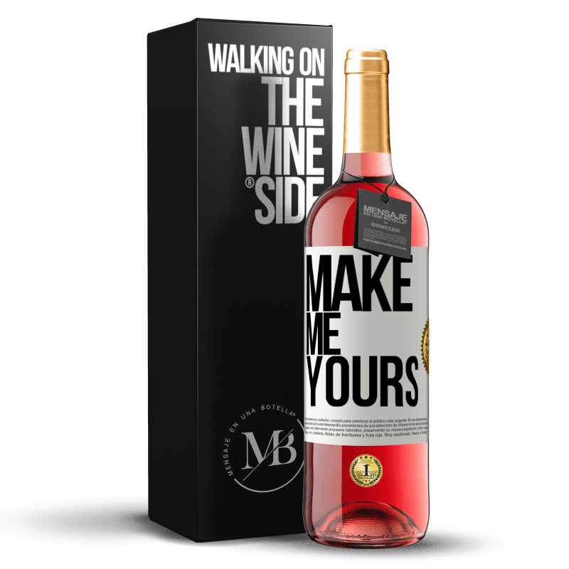 24,95 € Free Shipping | Rosé Wine ROSÉ Edition Make me yours White Label. Customizable label Young wine Harvest 2020 Tempranillo