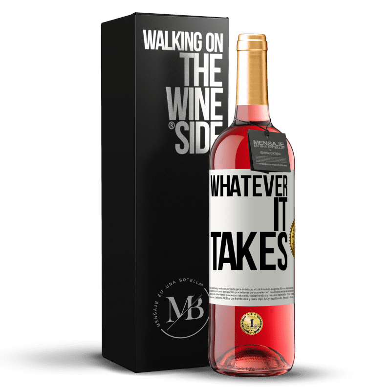 24,95 € Free Shipping | Rosé Wine ROSÉ Edition Whatever it takes White Label. Customizable label Young wine Harvest 2020 Tempranillo