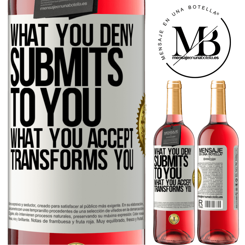 24,95 € Free Shipping | Rosé Wine ROSÉ Edition What you deny submits to you. What you accept transforms you White Label. Customizable label Young wine Harvest 2020 Tempranillo