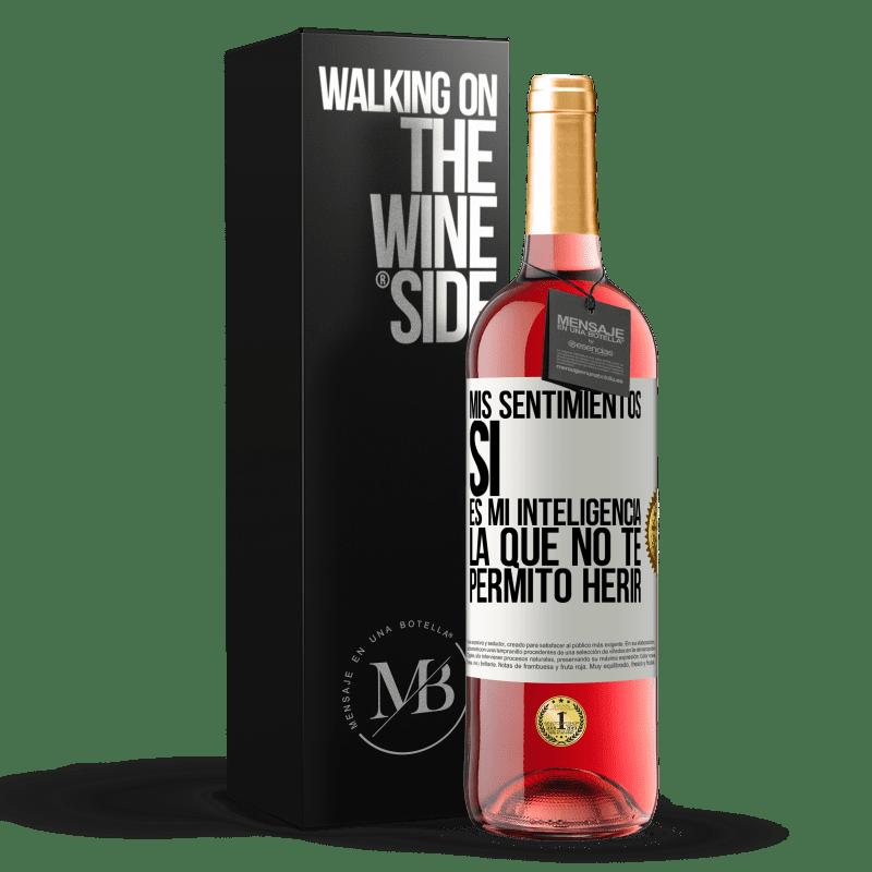 24,95 € Envoi gratuit   Vin rosé Édition ROSÉ Mes sentiments, oui. C'est mon intelligence que je ne te laisse pas faire de mal Étiquette Blanche. Étiquette personnalisable Vin jeune Récolte 2020 Tempranillo