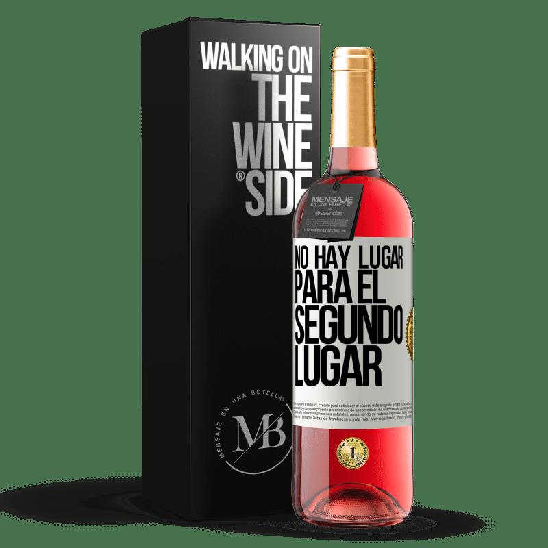 24,95 € Envoi gratuit   Vin rosé Édition ROSÉ Il n'y a pas de place pour la deuxième place Étiquette Blanche. Étiquette personnalisable Vin jeune Récolte 2020 Tempranillo