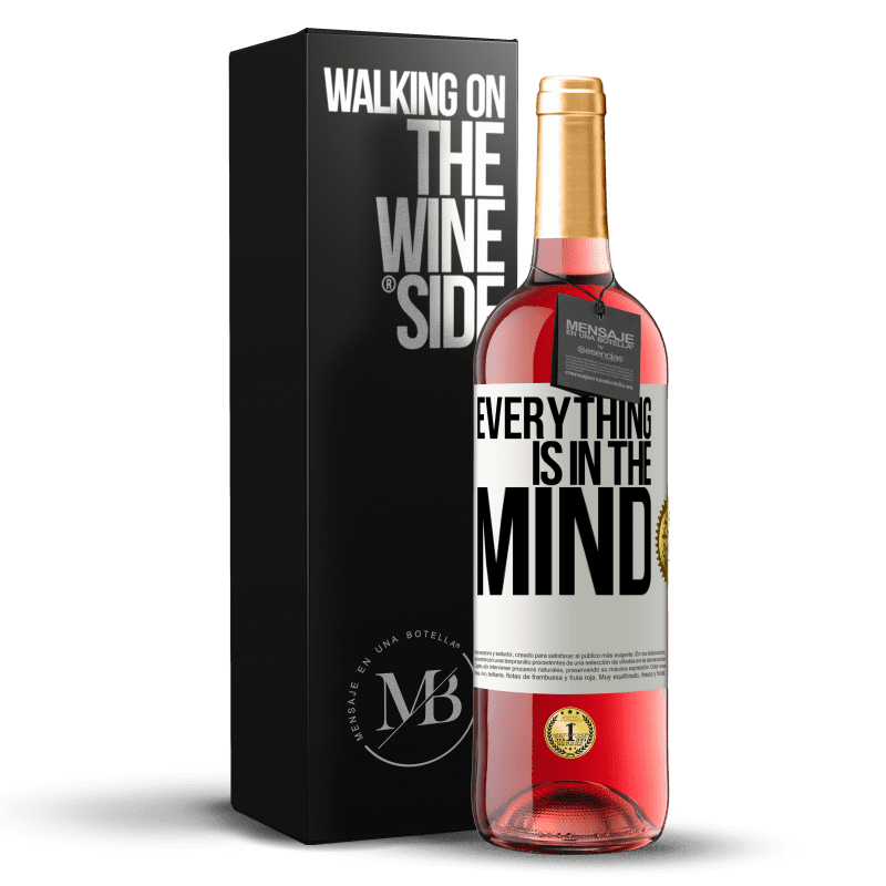 24,95 € Free Shipping | Rosé Wine ROSÉ Edition Everything is in the mind White Label. Customizable label Young wine Harvest 2020 Tempranillo