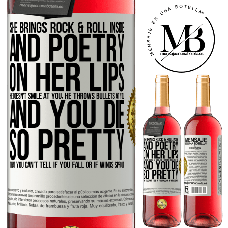 24,95 € Free Shipping | Rosé Wine ROSÉ Edition She brings Rock & Roll inside and poetry on her lips. He doesn't smile at you, he throws bullets at you, and you die so White Label. Customizable label Young wine Harvest 2020 Tempranillo