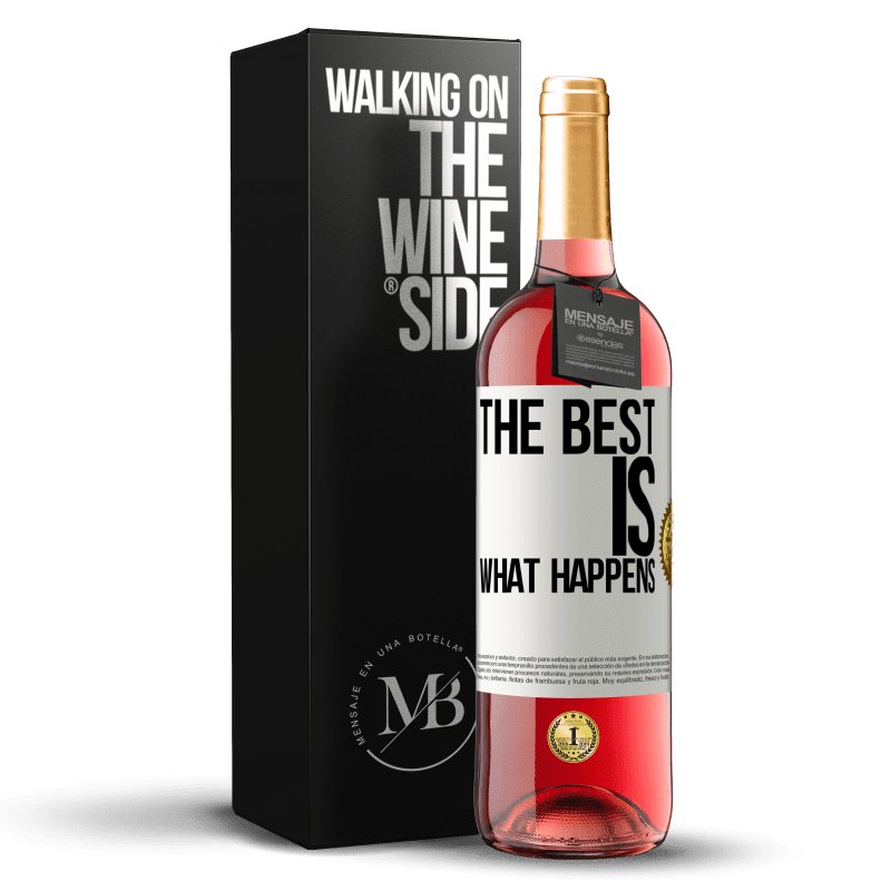 24,95 € Free Shipping | Rosé Wine ROSÉ Edition The best is what happens White Label. Customizable label Young wine Harvest 2020 Tempranillo