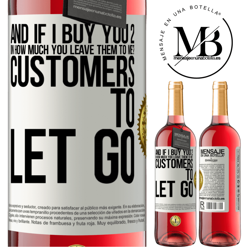 24,95 € Free Shipping   Rosé Wine ROSÉ Edition and if I buy you 2 in how much you leave them to me? Customers to let go White Label. Customizable label Young wine Harvest 2020 Tempranillo